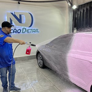 Mangueira nylon 05 Metros Engate Rapido e Snow Foam Nação Detail Aluminum Karcher HD 13/35 Pe