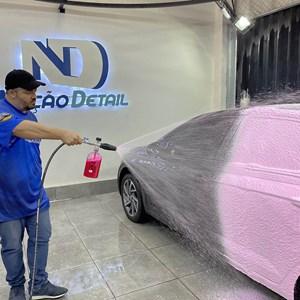Mangueira nylon 05 Metros Engate Rapido e Snow Foam Nação Detail Aluminum Karcher HD 585 Plus